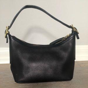 Coach brown leather mini handbag